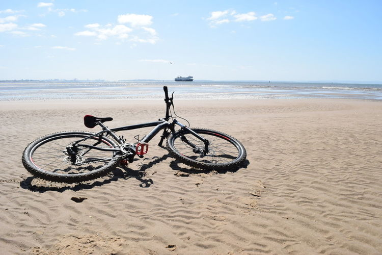 MTB Biking Formby Beach Liverpool, England Lovely Day Sandy Beach MTB ADVENTURE Riding Bike Enjoying Life Blue Sky Ship Mersey Merseyside Mersey River Tidesout Washed Up Amazing View Bike Near The Sea Liverpool Docks