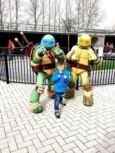 Power of Trust Movie Park Germany Ninja Turtles Day Representation Real People Full Length Human Representation Inner Power People Childhood Front View Art And Craft Outdoors
