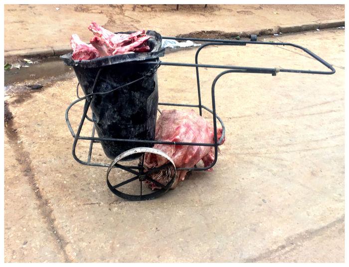 Butcher Day Dustbin Fresh Meat Havanna Cuba No People Outdoors Vehicle