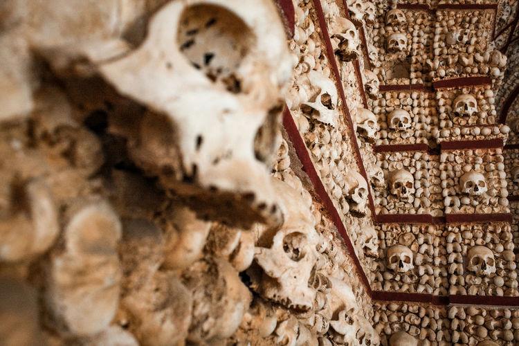 Close-up of human sculpture