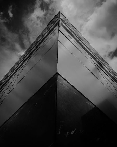 Low Angle View Sky Cloud - Sky Architecture No People Outdoors Built Structure Day Skyscraper Building Exterior Close-up Lightroom Mobile Huaweip10ph Promodecaptured Monochrome HuaweiP10 Huaweiphotography