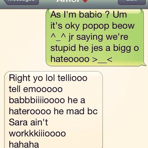 Texting My Popo Beow ^_^