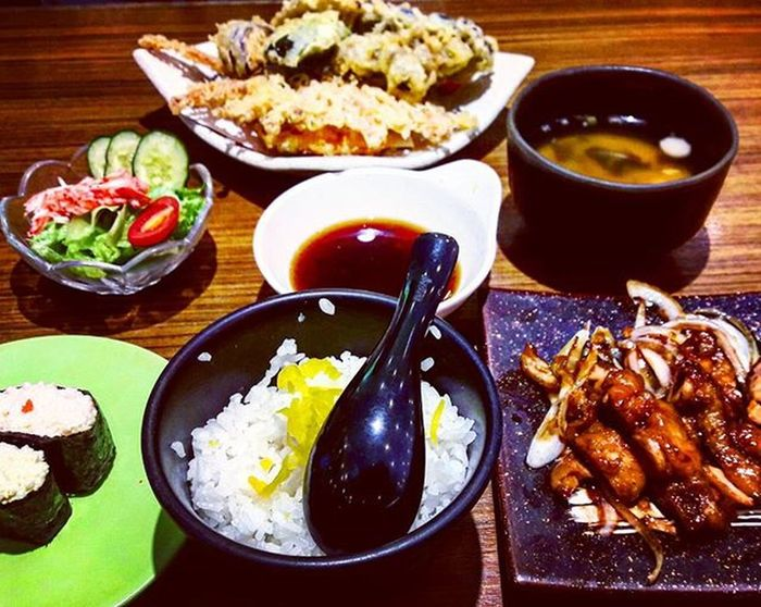Japanese food cravings satisfied ✔ Foodporn Japanesefood Teriyaki Teriyakichicken Sushi Tempura Sakaesushi Foodgram Japfood Cravingsatisfied FOTD Japanesecuisine