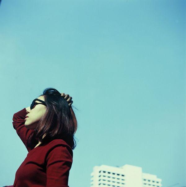 Blue sky~ Yashica Tlr 120 Film Slidefilm