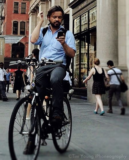 Look At Me, I'm A Handsom Guy, On A Bike, In Front Of EATALY, Across From Madison Square Park, Below The Tiffany's Clock, Above The Subway, With The Flat Iron Building Behind Me In New York City, USA. I Am The Desire Of All Who See Me, Yes?!? Yes!