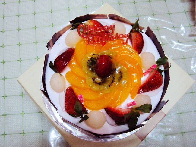 Visual Feast Food Dessert Freshness Sweet Food Fruit Healthy Eating Close-up Fruit Toppings Cake♥ Cake Lover Yummy♡ Birthday Cake Ready-to-eat