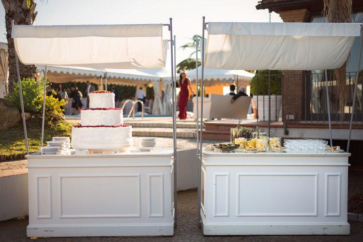 Cake at wedding ceremony