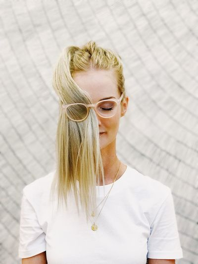 EyeEm Selects Blond Hair One Person Sunglasses One Woman Only Casual Clothing Day Young Adult Outdoors Eyeglasses  Women Only Women Headshot Beautiful Woman Adults Only Portrait Adult One Young Woman Only Young Women People Close-up The Week On EyeEm Editor's Picks