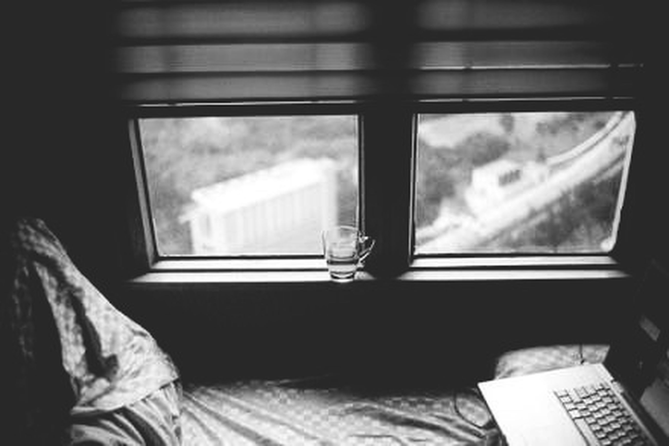 indoors, window, glass - material, transparent, home interior, table, chair, curtain, absence, glass, reflection, day, no people, book, empty, open, bed, close-up, domestic room, house