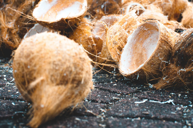 Brown Close-up Coconut Coconut Husk Coconut Husks Day Food Freshness Left Overs Nature No People Outdoors