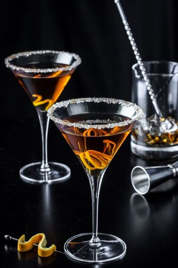 Irange Citrus  Martini Stirred Mixer Stemware Classy Sophisticated Alcohol Adult Beverage Drink Nightcap Libation Cheers