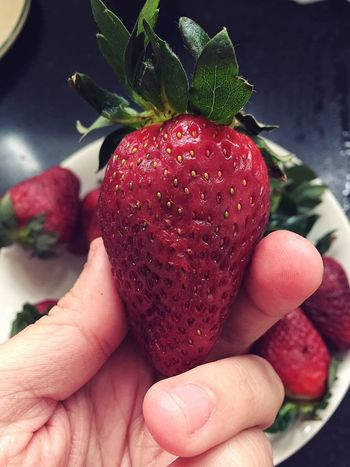 Red Color Strawberry Food