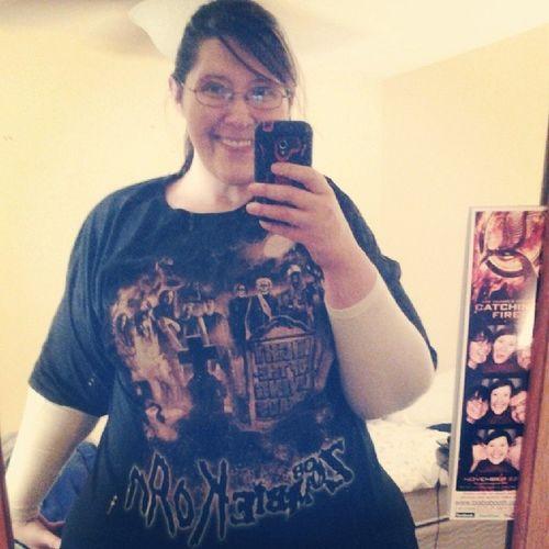 Yay new shirt! Soooo tired but happy! Robzombie Korn NightOfTheLivingDreads
