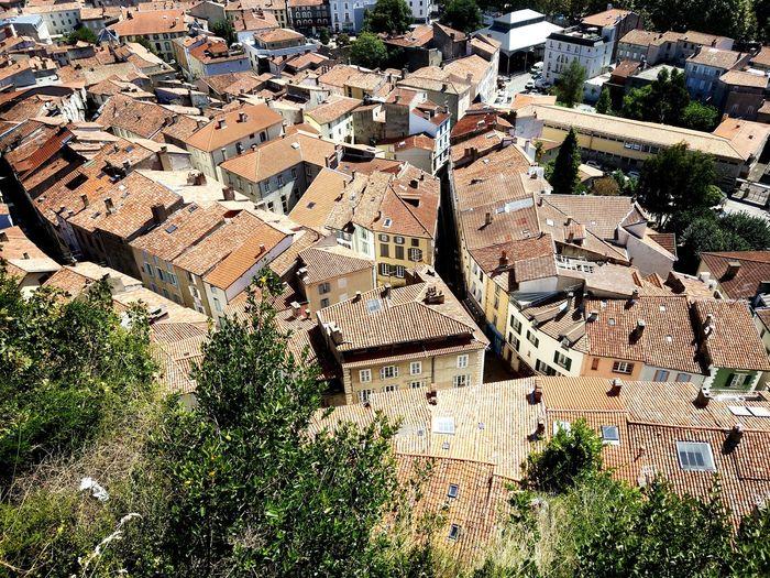 France Occitania Castell De Foix Catars Foix Backgrounds Full Frame Sunlight High Angle View