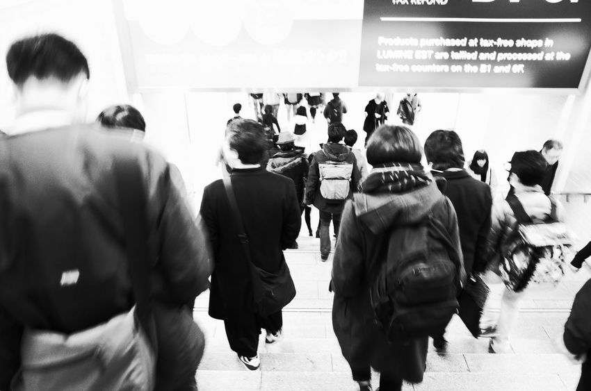 Group Of People Men Crowd Real People Large Group Of People Rear View Adult Women Standing Indoors  Motion Public Transportation Travel Architecture Lifestyles Walking Leisure Activity Transportation Business