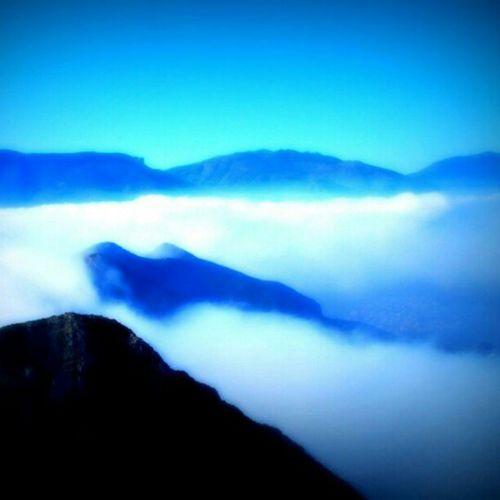 Mountain Fog Treiking Clouds sky blue montaña Comunitat Valenciana Marina Alta niebla cielo nubes