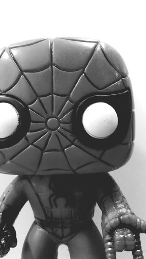 Close-up Indoors  Extreme Close-up Studio Shot Spiderman Spiderman ♥ Blackandwhite Amazing Popfunko Studio Time  Full Frame Upclose  Surface Level Whitebackground In Front Of Tranquil Scene Webslinger Still Life Funkopopvinyl Studio Time  Creativity Single Object Front View White Background Indoors