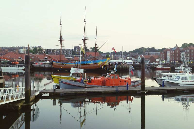 Lifeboat Historic Ship Nautical Vessel Water Harbor Moored Sailing Ship Reflection Sky Boat Dock Mast Rigging Ship Waterfront Marina Commercial Dock Tall Ship Port