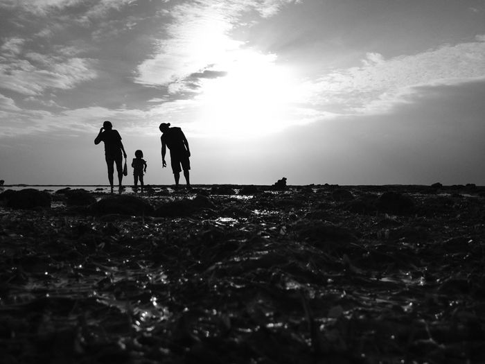 love begins in the family❤️ Happy Hearts Day! Real People Family❤ Togetherness Landscape Beach Lowtide At Sunrise Seascape Black & White Lifestyles Outdoors Bonding Scenics Simple Moment Simple Things In Life Family Matters Family Walks Family First <3 Eyeem Philippines IMography IPhoneography