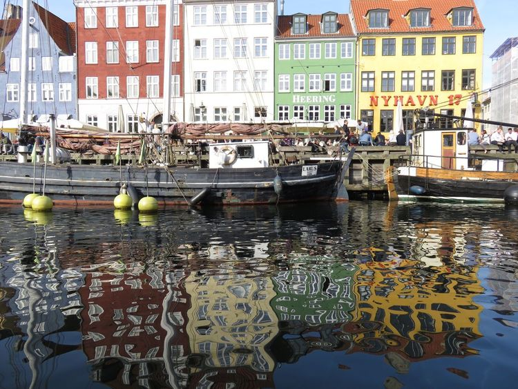 Nyhavn Copenhagen Water Architecture Building Exterior City Old Buildings Outdoors Built Structure Waterfront Reflection Colourful Best Place In Town Day Vessel No Filter, No Edit, Just Photography First Day Of Spring Canals Travel Destinations