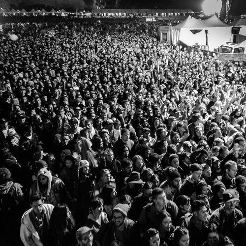 Crowd at night