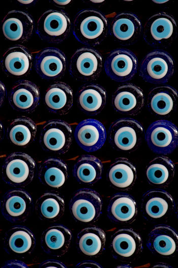 Full Frame Backgrounds No People Indoors  In A Row Large Group Of Objects Multi Colored Industry Arrangement Choice Close-up Side By Side Order Repetition Auto Post Production Filter Transfer Print Pattern Variation High Angle View Technology Turkish Evil Eye