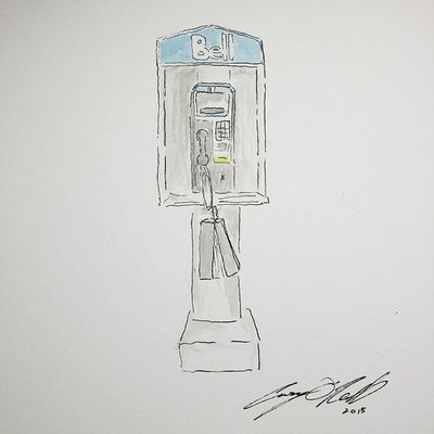 Payphone (sans tunes) Caseyoneillart Illustration Watercolor Whpidrewthis