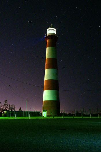 Geraldton Illuminated Lighthouse Night Night Photography No People No People, Outdoors Protection Sky Stars Western Australia