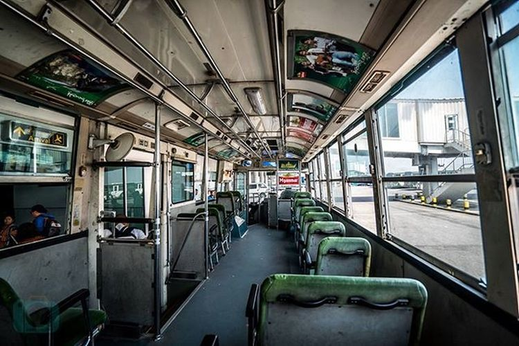 Burmese Airport Shuttle Bus in Mandalay Airport Burma Mandalay Airportbus Joetographer Travelgram