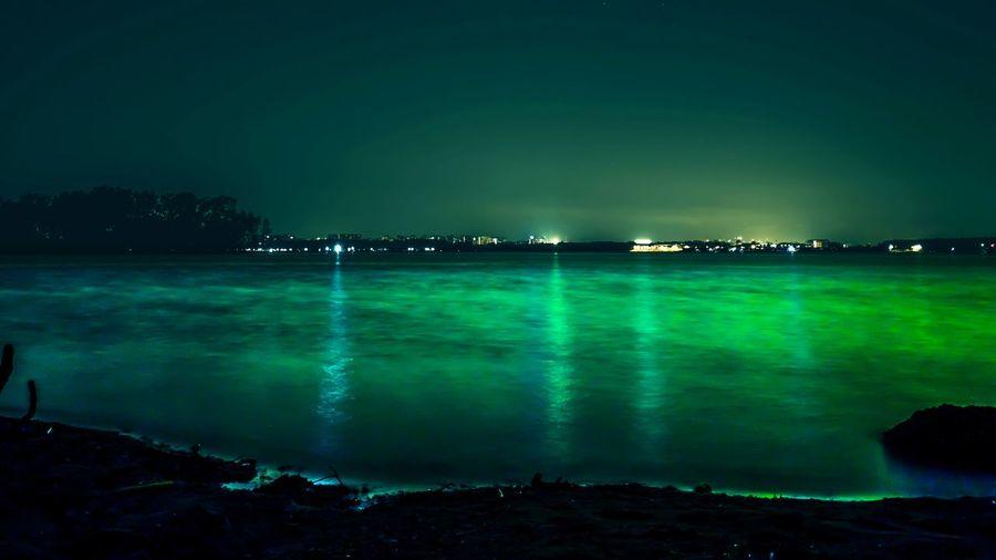 Luminance HUAWEI Photo Award: After Dark Illuminated City Sea Water Blue Cityscape Awe Reflection Urban Skyline Light Beam