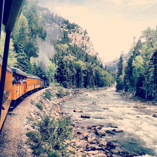Took A Train Ride With The Fam This Past Summer, It Was Exciting & Beautiful. Nature Colorado Mountians Landscape Riding The Train