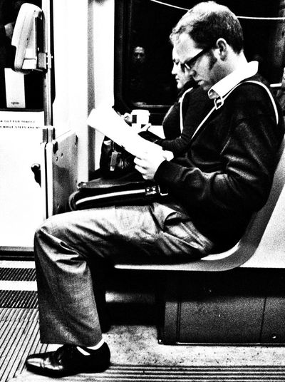 The Thinking Bench Eye Contact Avoidance Material My Daily Commute