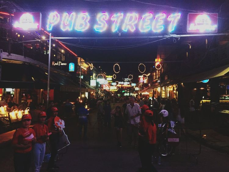 Overnight Success Nightphotography Lights Nightlife Pubstreet Cambodia Siemreap Overnight Travel Destinations Night Illuminated