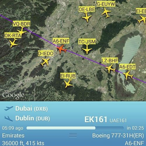 Haha its back again! It was here just before yesterday and flew to Jakarta yesterday! Hellotomorrow Ek161 Ek162 Emirates emiratesairlines dubaiairport dublinairport uae