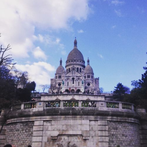 Sacré-Cœur de Montmartre in Paris, France Architectural Feature Architecture Beautiful Blue Building Exterior Built Structure Cloud Cloud - Sky Cloudy Day Dome Exterior Façade France French Historic History Low Angle View No People Paris Sacre Coeur Sacré-Cœur De Montmartre Sky Tourism Travel Destinations