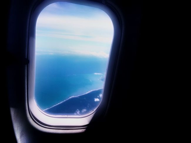 EyeEmNewHere Airplane Commercial Airplane Cockpit Flying Water Air Vehicle Journey Window Aerial View Aerospace Industry