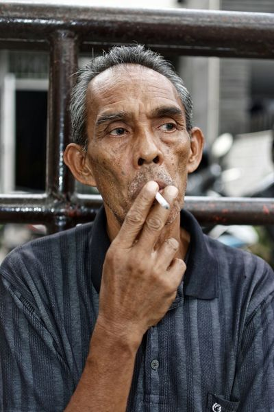 Testing new lenses and the results more than I expected ... Bandung Shooter Indonesian Shooter Second Acts Adult Adults Only Close-up Day Headshot Human Body Part Human Hand Looking At Camera Men One Man Only One Person Only Men Outdoors People Portrait Real People Senior Adult