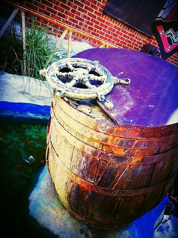 Barrel Wheel Outdoors Pirate Pirates Cove Close Up Enjoying Life Days Out Photography HuaweiP9 Mobilephotography