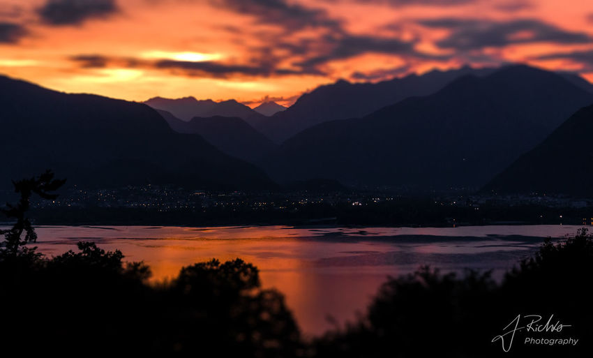 Beauty In Nature Cloud - Sky Day Idyllic Lake Landscape Mountain Mountain Range Nature No People Outdoors Scenics Silhouette Sky Sunset Tranquil Scene Tranquility Tree Water Ascona Locarno Lago Maggiore