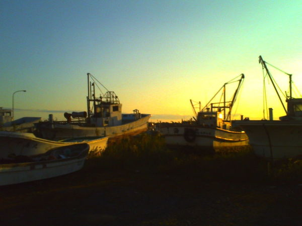 DigitalHarinezumi Japan Hokkaido Boat Sunset Sea Day Outdoors No People