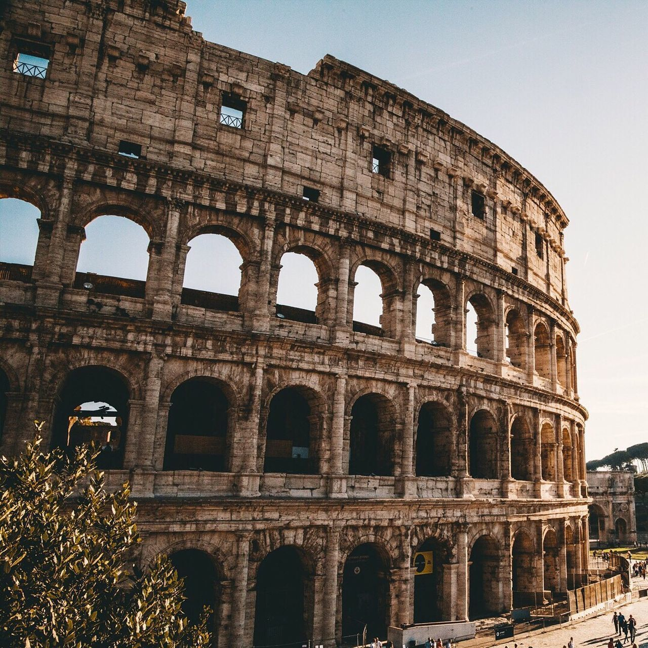 history, old ruin, amphitheater, architecture, the past, ancient, arch, built structure, travel destinations, tourism, ancient civilization, travel, building exterior, archaeology, arts culture and entertainment, low angle view, outdoors, sky, day, no people, tree, clear sky