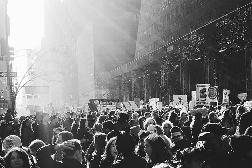 Women's March NYC Crowd Large Group Of People Street Social Issues Women New York Womensmarch