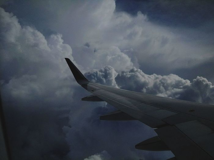 Airplane Flying Cloud - Sky Outdoors Day Nature Sky Winglet Big Clouds Dramatic Sky Colour Photography Documenrary Photography Seascape Skyscape Been There.