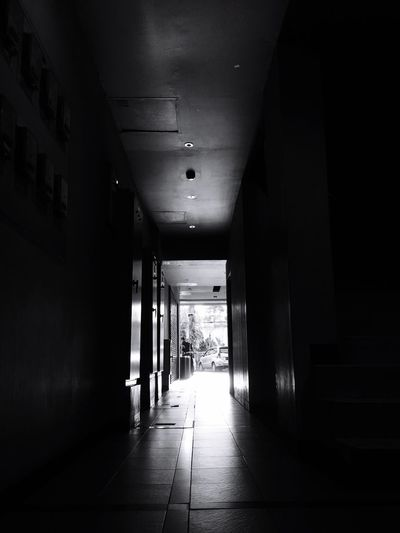 EyeEm Selects The Way Forward Indoors  Architecture Passage No People Day Black & White Lihht In The Distant Jakarta As I See It See The Light