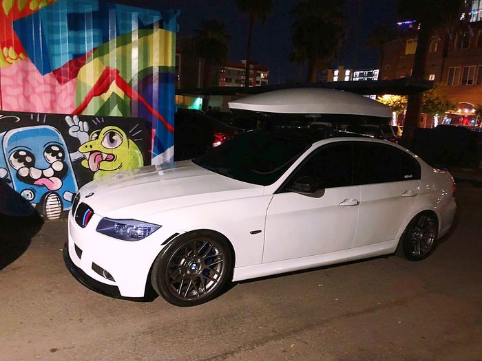 Bmw M5 M3 Car Night Land Vehicle Transportation Illuminated Street Built Structure