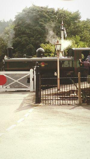 Steam Locomotive Train Conductor Vintage Lamp Post