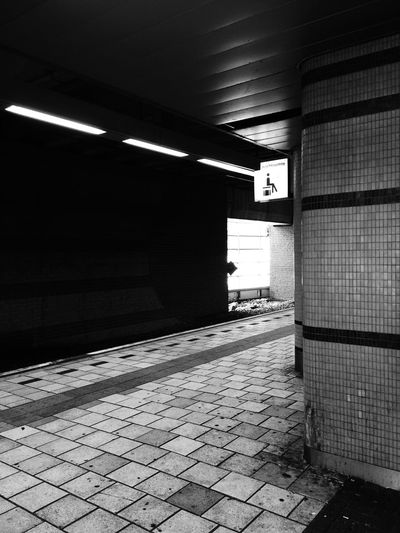 Train Station Blackandwhite Platform