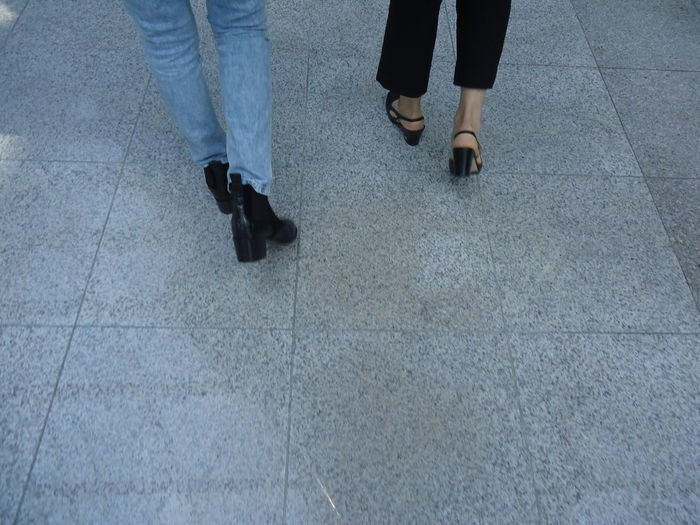 Adult Day Friendship Human Body Part Human Leg Low Section People Shoe Walking Women