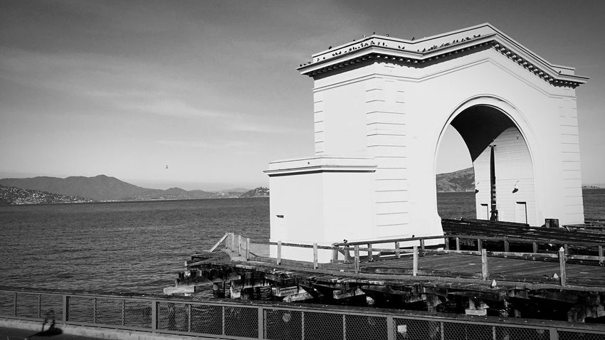 Gate to Nowhere. Pier Jetty Alcatraz Architecture Sky Built Structure Day Building Exterior Nature Water Outdoors Travel Destinations Security Sea Railing
