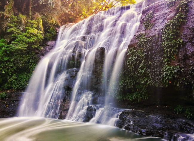 Free Falling Motion Waterfall Long Exposure Water Blurred Motion Nature Beauty In Nature Outdoors